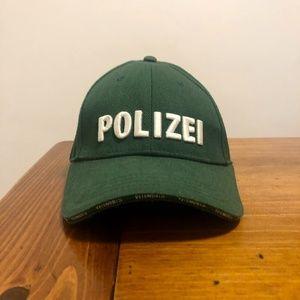 Polizei embroidered cotton-twill baseball cap